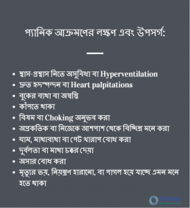 List of Panic attack symptoms by ItsOkay Bangladesh