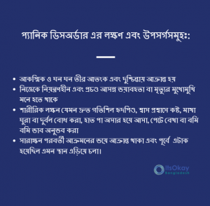 List of Panic disorder symptomps by ItsOkay Bangladesh